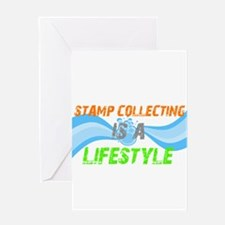 Stamp collecting is a lifesty Greeting Card