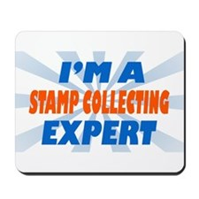 stamp collecting expert Mousepad