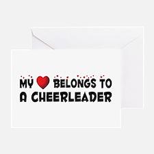 Belongs To A Cheerleader Greeting Card