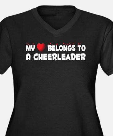 Belongs To A Cheerleader Women's Plus Size V-Neck
