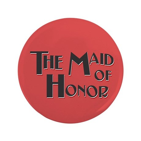 """Fairground Maid of Honor 3.5"""" Button (100 pack)"""