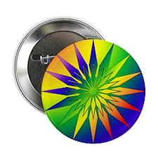 """Rainbow Snowflake 41 2.25"""" Button"""