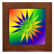Rainbow Snowflake 41 Framed Tile
