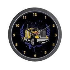 Grungy Trucker Wall Clock