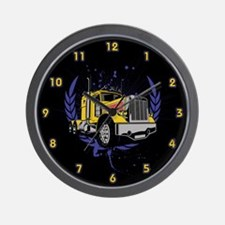 Grungy Trucker Wall Clock