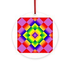 GLBT Grid Ornament (Round)