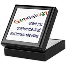 Genealogy Confusion (blue) Keepsake Box