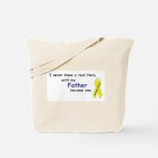 MY DADS A HERO (SARCOMA CANCER) YELLOW RIBBON Tote