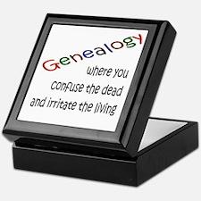 Genealogy Confusion (black) Keepsake Box
