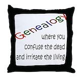 Genealogy humor Throw Pillows