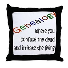 Genealogy Confusion (black) Throw Pillow