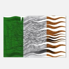 Wavy Ireland Flag Grunged Postcards (Package of 8)
