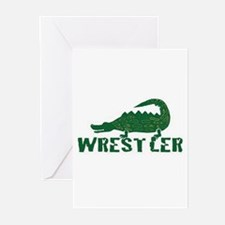 Alligator Wrestler Greeting Cards (Pk of 10)