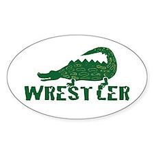 Alligator Wrestler Oval Decal