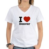 I love denver Womens V-Neck T-shirts