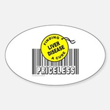 LIVER DISEASE FINDING A CURE Oval Decal