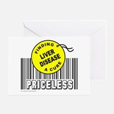 LIVER DISEASE FINDING A CURE Greeting Card