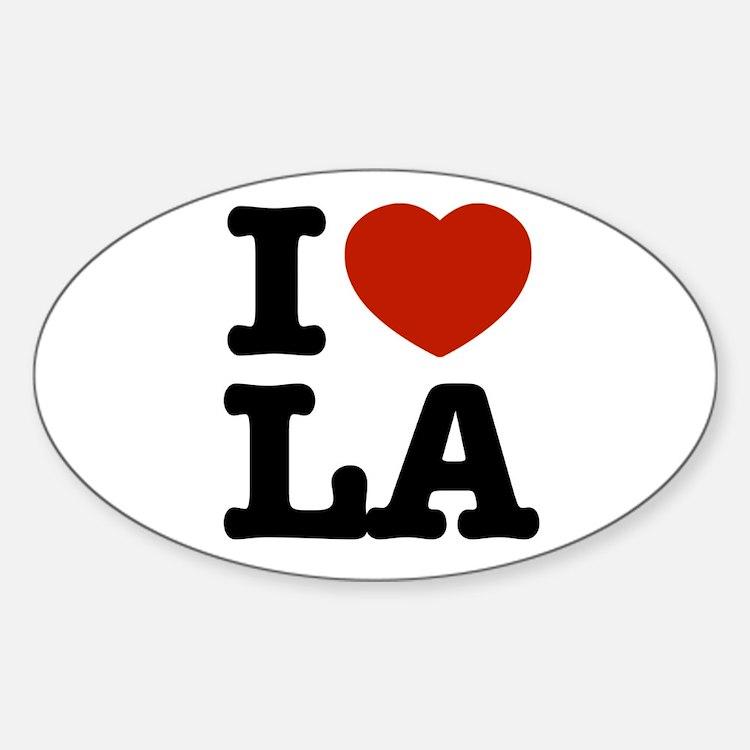 I love LA Oval Decal