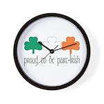 Proud To Be Part Irish Wall Clock