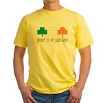 Proud To Be Part Irish Yellow T-Shirt