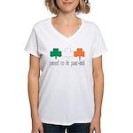 Proud To Be Part Irish Women's V-Neck T-Shirt