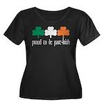 Proud To Be Part Irish Women's Plus Size Scoop Nec