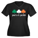Proud To Be Part Irish Women's Plus Size V-Neck Da