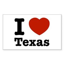 I love Texas Rectangle Decal