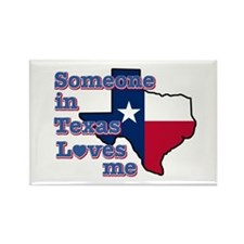 Someone in Texas loves me Rectangle Magnet (100 pa