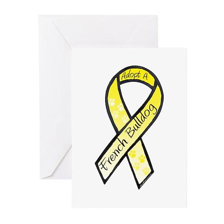 Frenchie RibbonC Greeting Cards (Pk of 10)