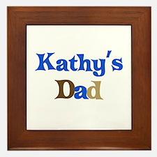 Kathy's Dad Framed Tile