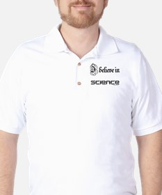 i believe in science Golf Shirt