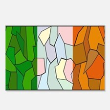 Ireland Flag Stained Glas Postcards (Package of 8)