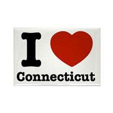 I love Connecticut Rectangle Magnet