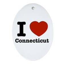 I love Connecticut Oval Ornament