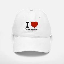 I love Connecticut Baseball Baseball Cap