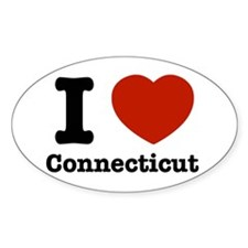 I love Connecticut Oval Decal