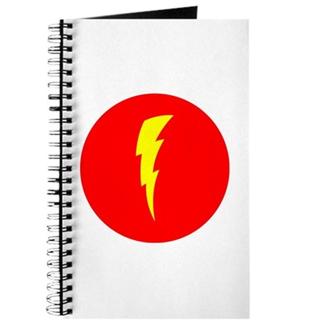 Lightning Bolt + Red Circle Journal