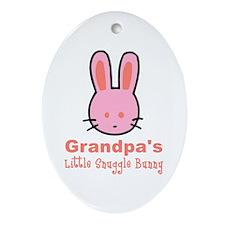 Grandpa's Snuggle Bunny (Girl) Oval Ornament