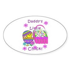 Daddy's Little Easter Chick Oval Decal