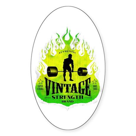 VINTAGE STRENGTH Oval Sticker