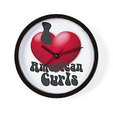 """I Love AmCurls"" Wall Clock"