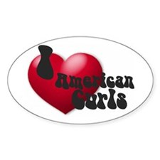 """I Love AmCurls"" Oval Decal"