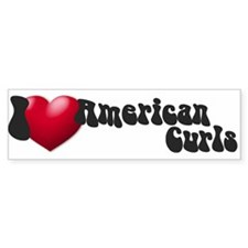 """I Love AmCurls"" Bumper Bumper Sticker"