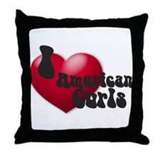 """I Love AmCurls"" Throw Pillow"