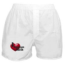 """I Love AmCurls"" Boxer Shorts"