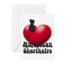"""I Love AmSHs"" Greeting Cards (Pk of 10)"
