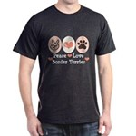 Peace Love Border Terrier Dark T-Shirt