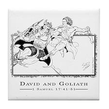 """""""David vs Goliath"""" Tile Coaster"""