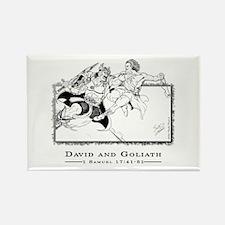 """David vs Goliath"" Rectangle Magnet"